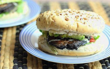 Whisky Portobello Mushroom Burgers