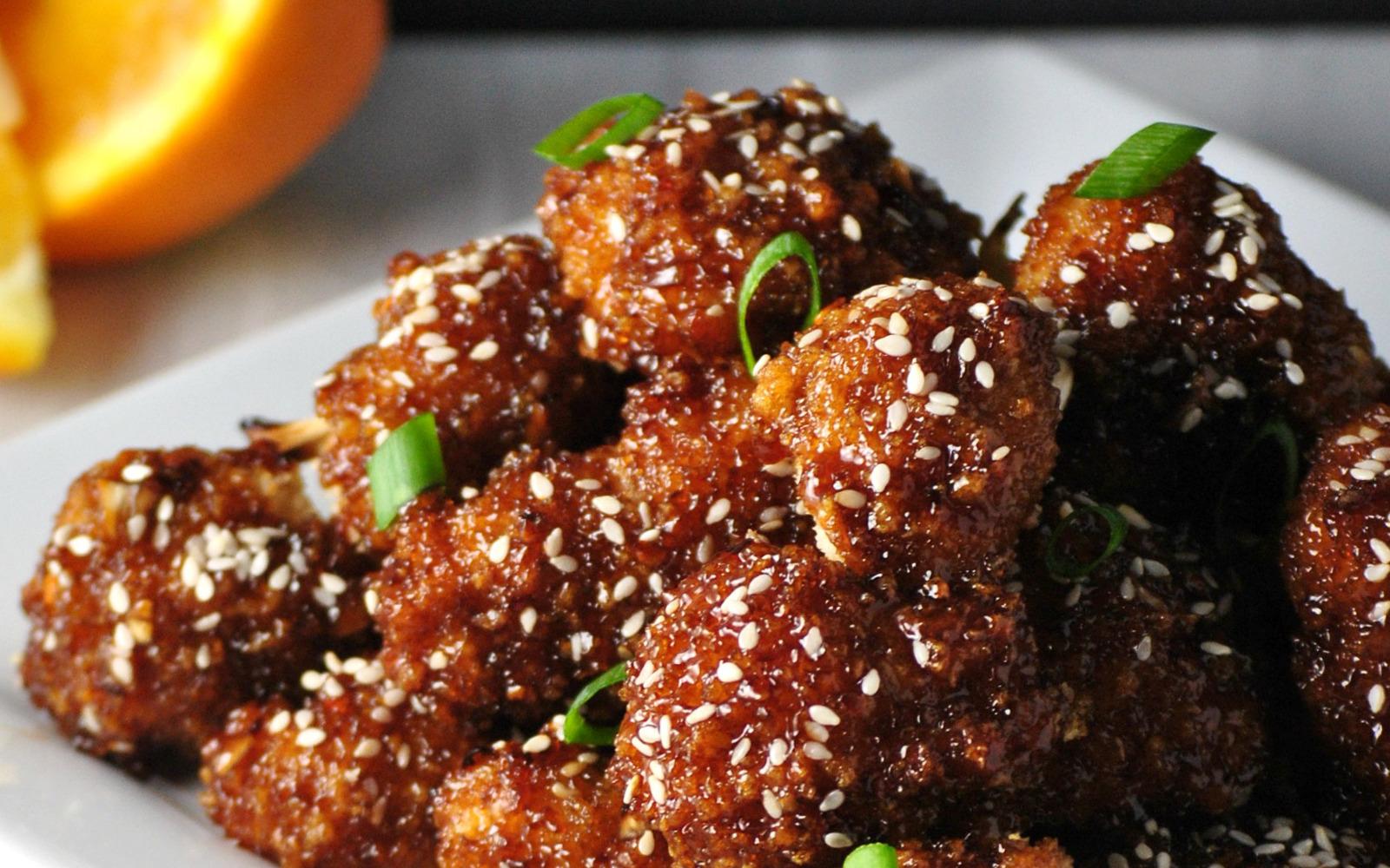 Asian Cauliflower Bites
