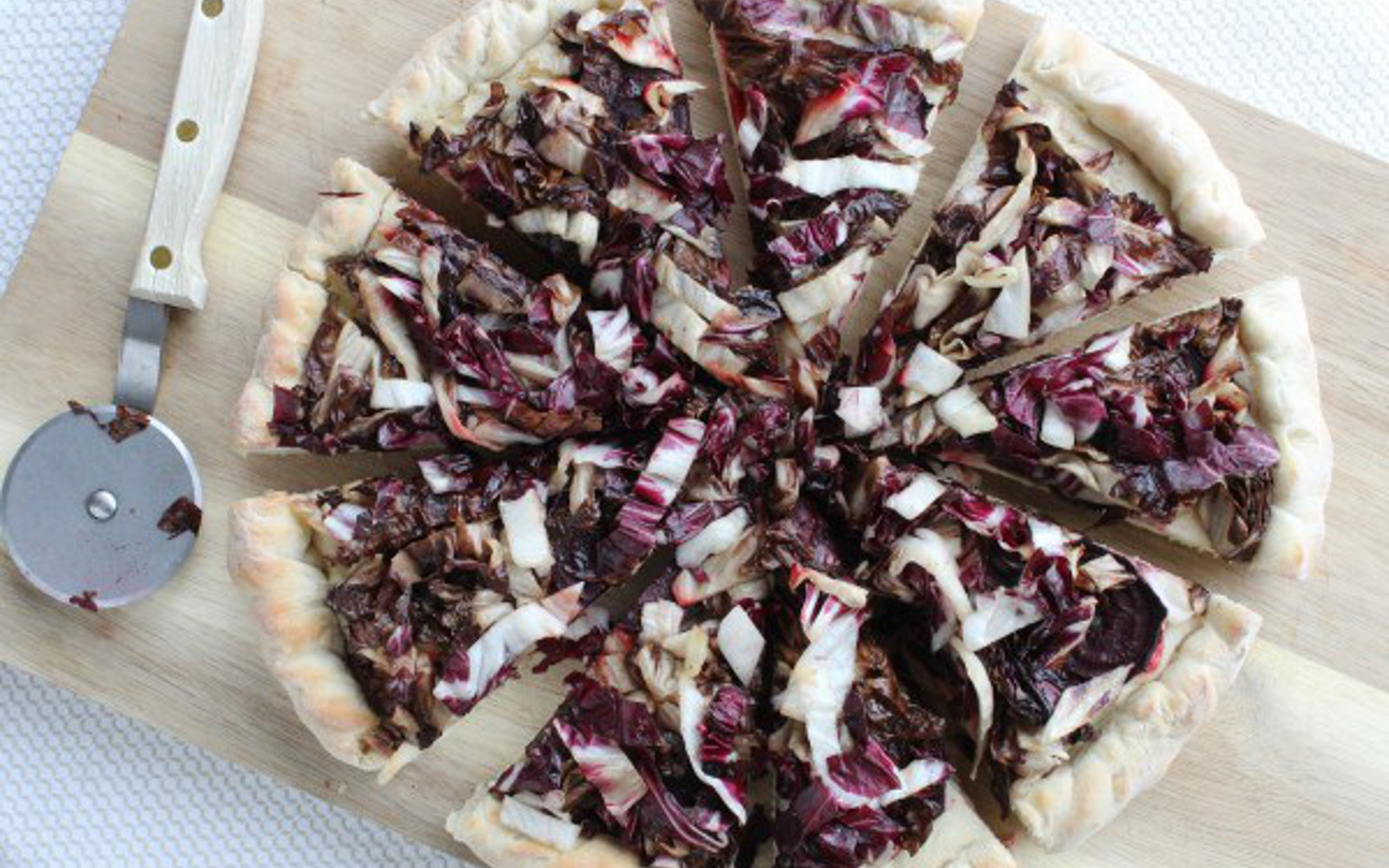 Beet and Radicchio Pizza