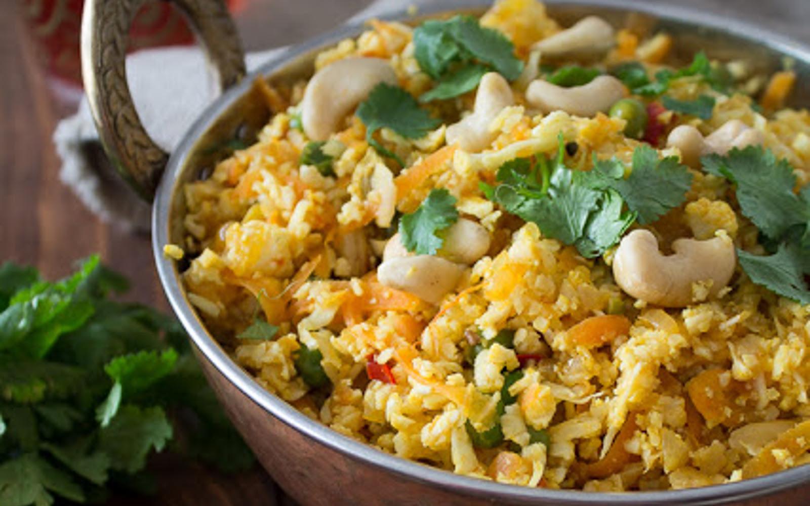 Cauliflower Rice Biryani