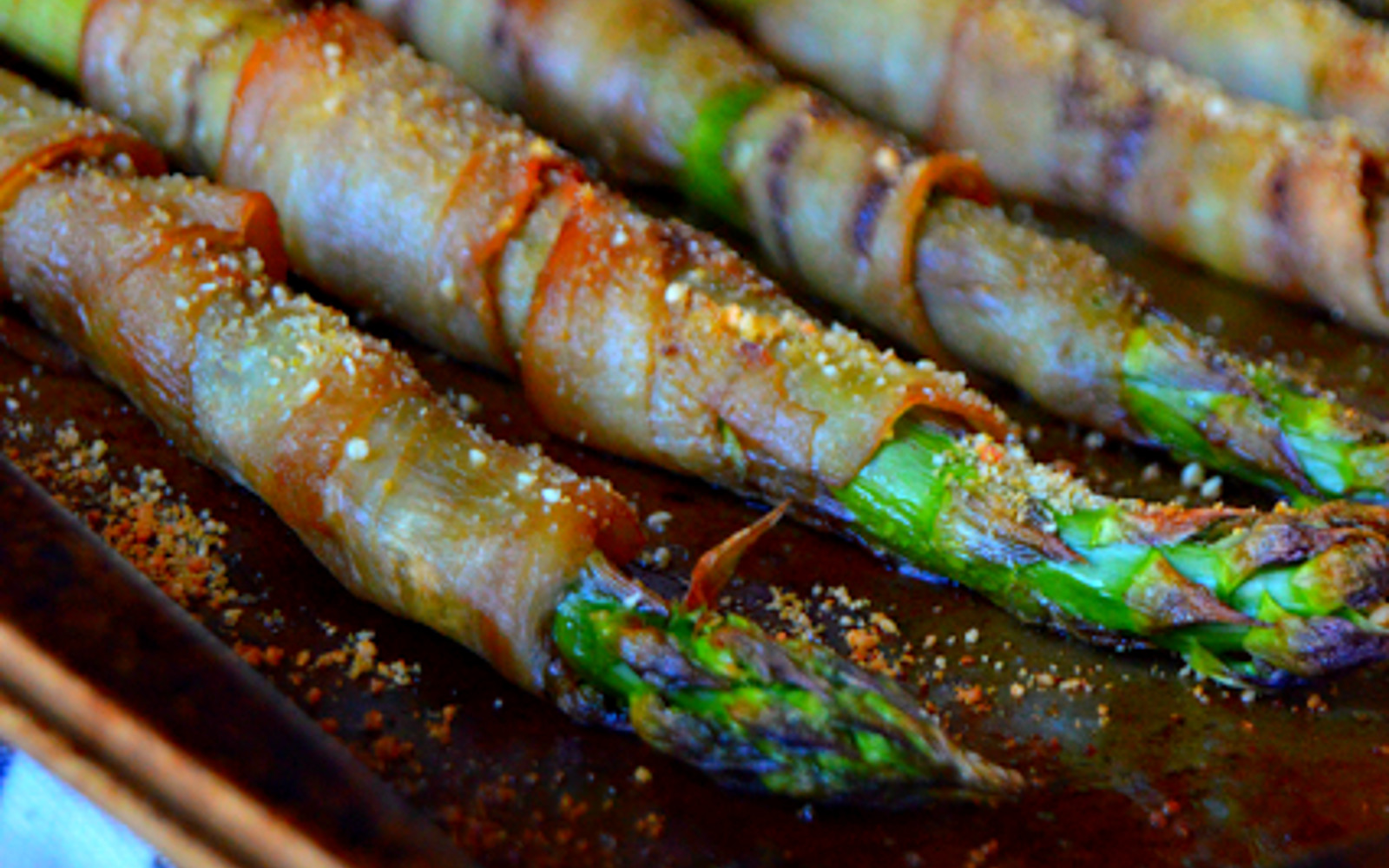 Eggplant Bacon-Wrapped Asparagus