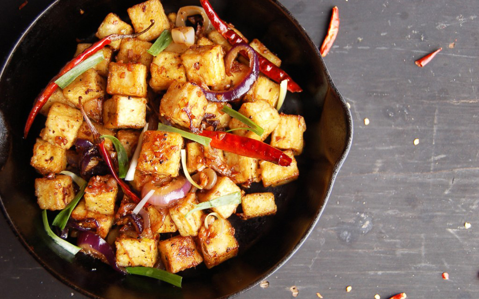 Fiery Garlic Tofu