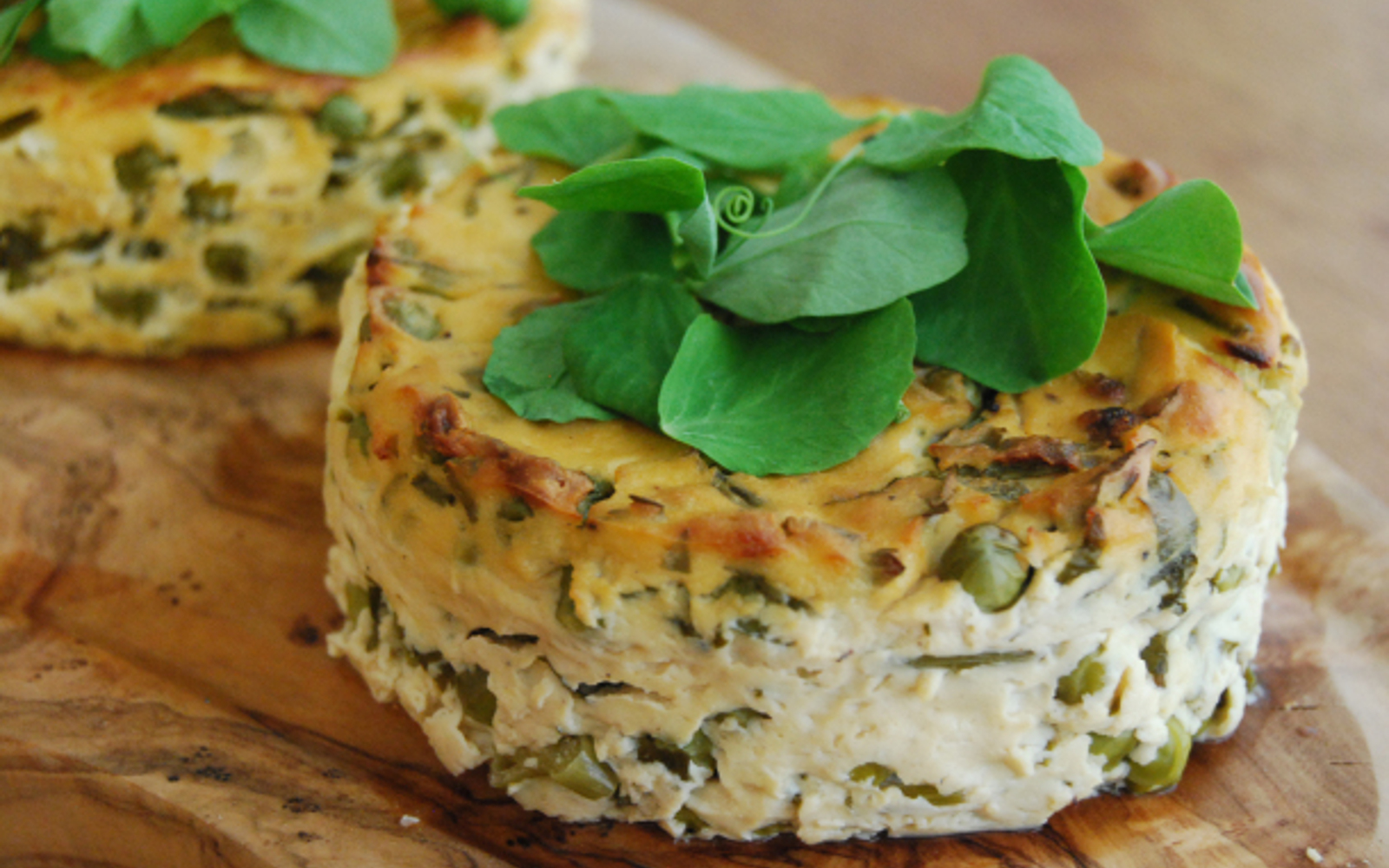 Garden Pea and Herb Tofu Frittata 1