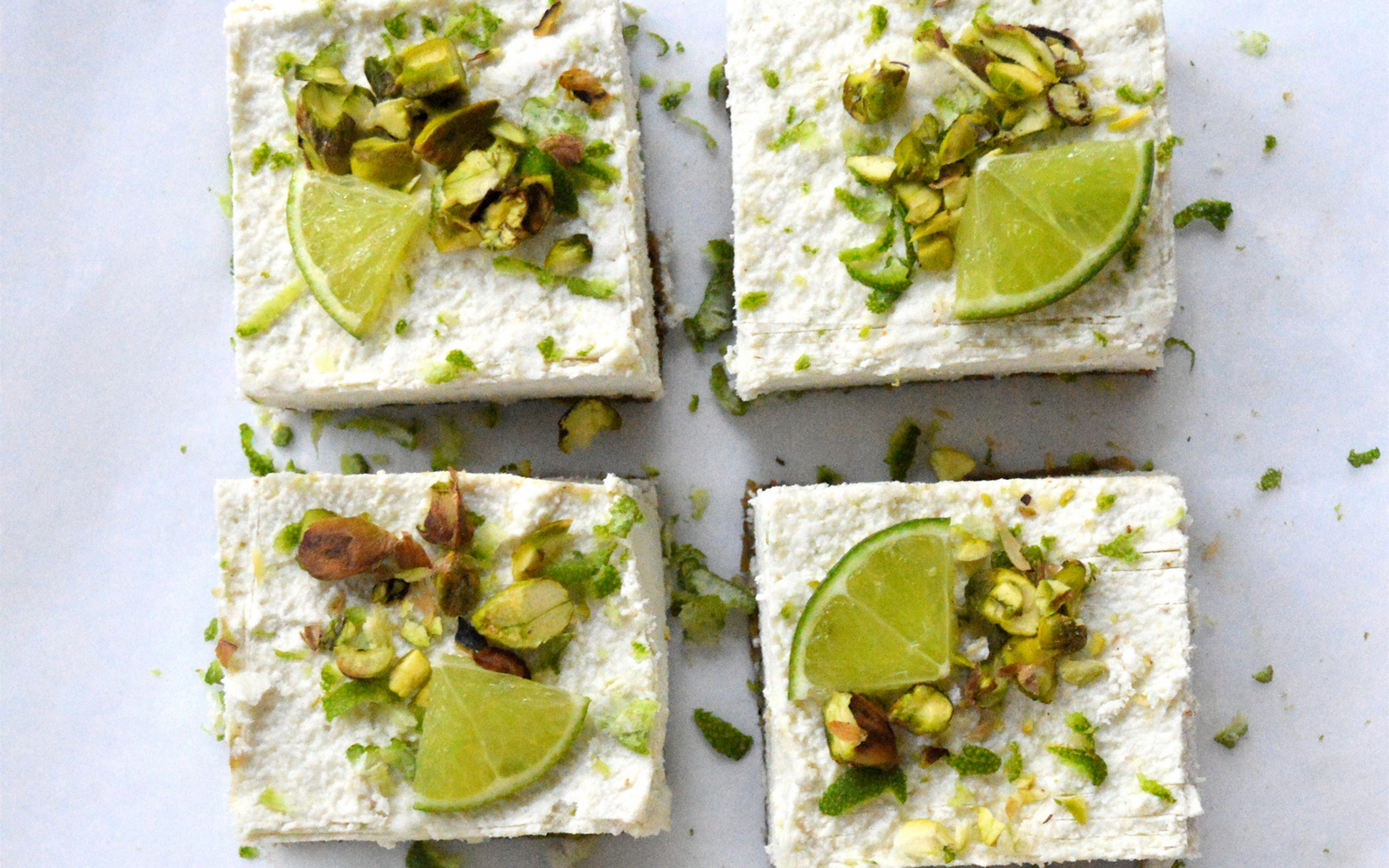 Raw Pistachio Coconut and Lime Cheesecakes 2