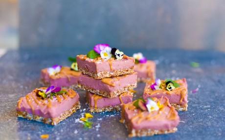Raw Raspberry Cheesecakes