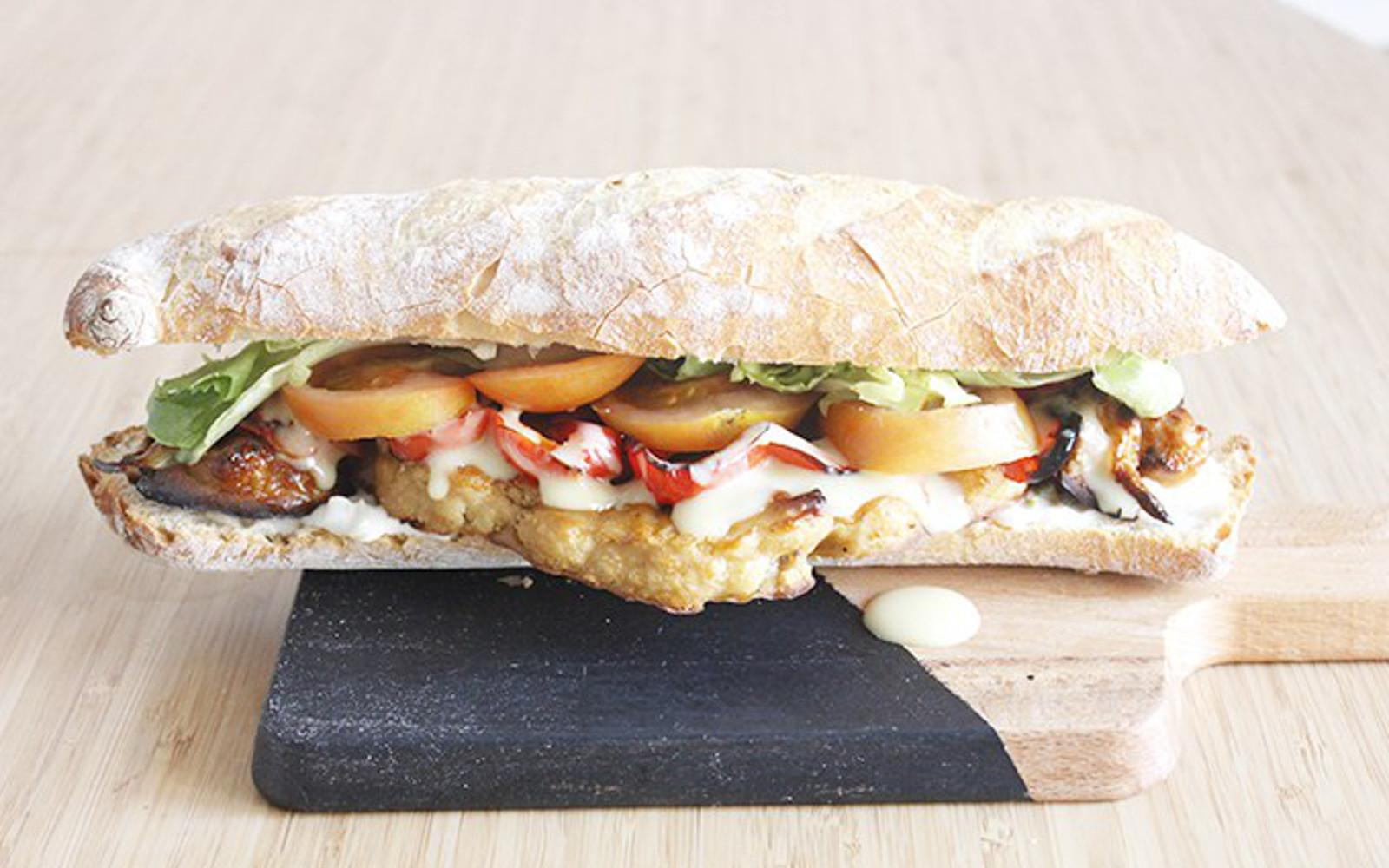 Spicy Barbecue Cauliflower Sandwich
