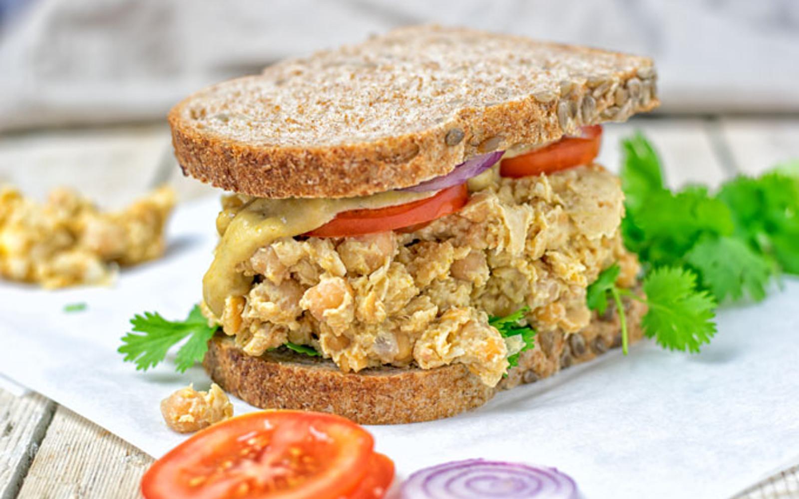 Thai Green Curry Salad Sandwich