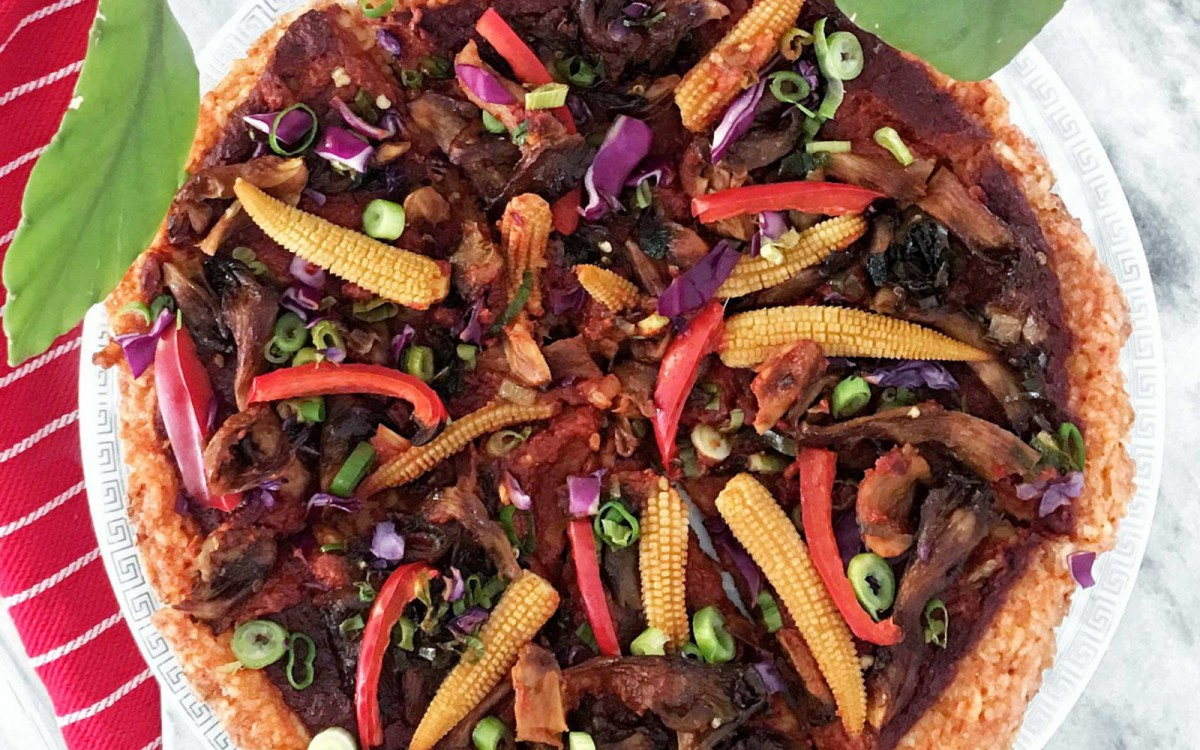 Asian-Style Rice Pizza 2
