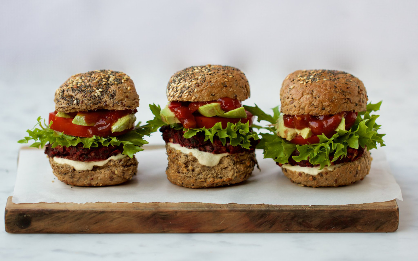 Beet Basil and Black Bean Burgers 3