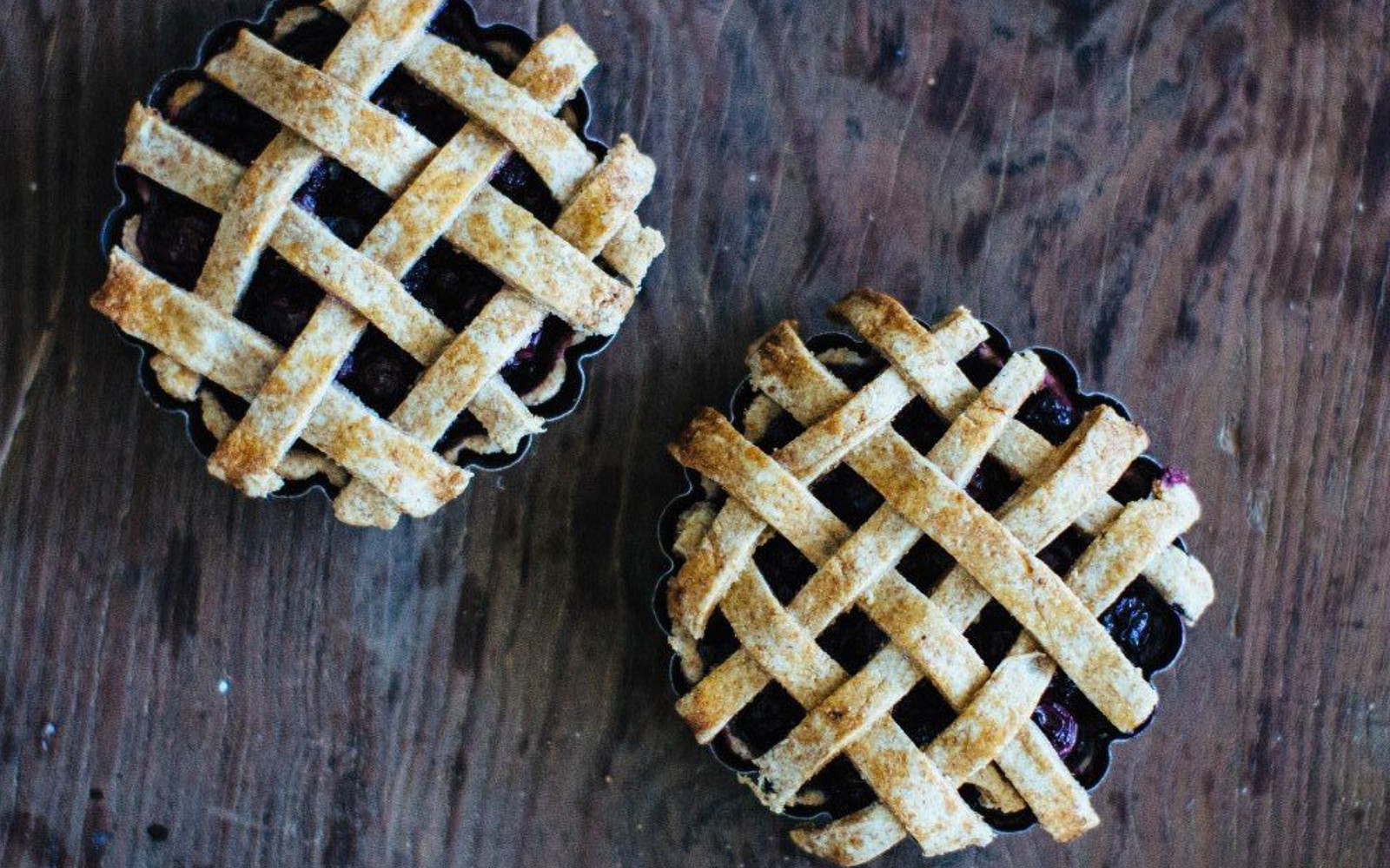 Blueberry and Basil Mini Pies