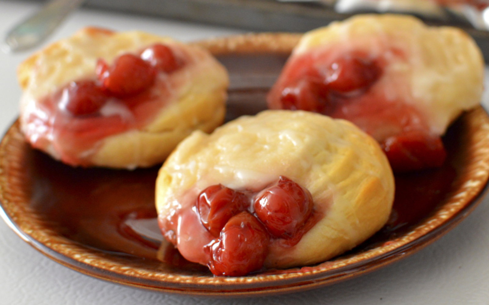 Cherry Cheese Danish Crescent Rolls