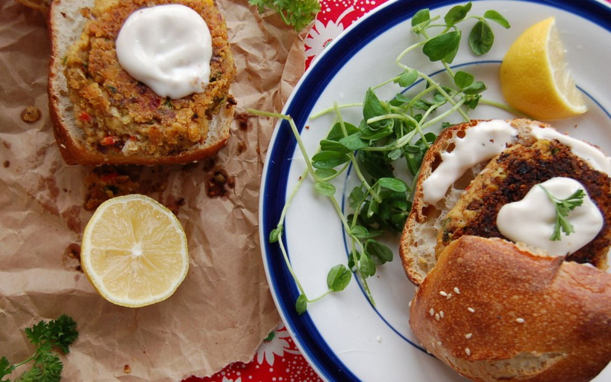 Vegan Crab Cakes With Sweet Balsamic Mayo