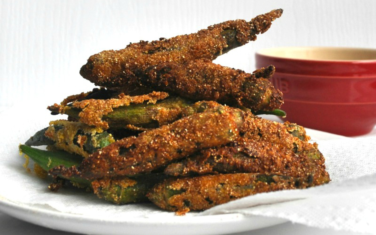 Fried Okra With Remoulade