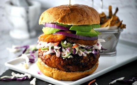 Vegan Hawaiian Burger