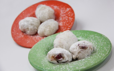 Almond Butter and Raspberry Jam Mochi