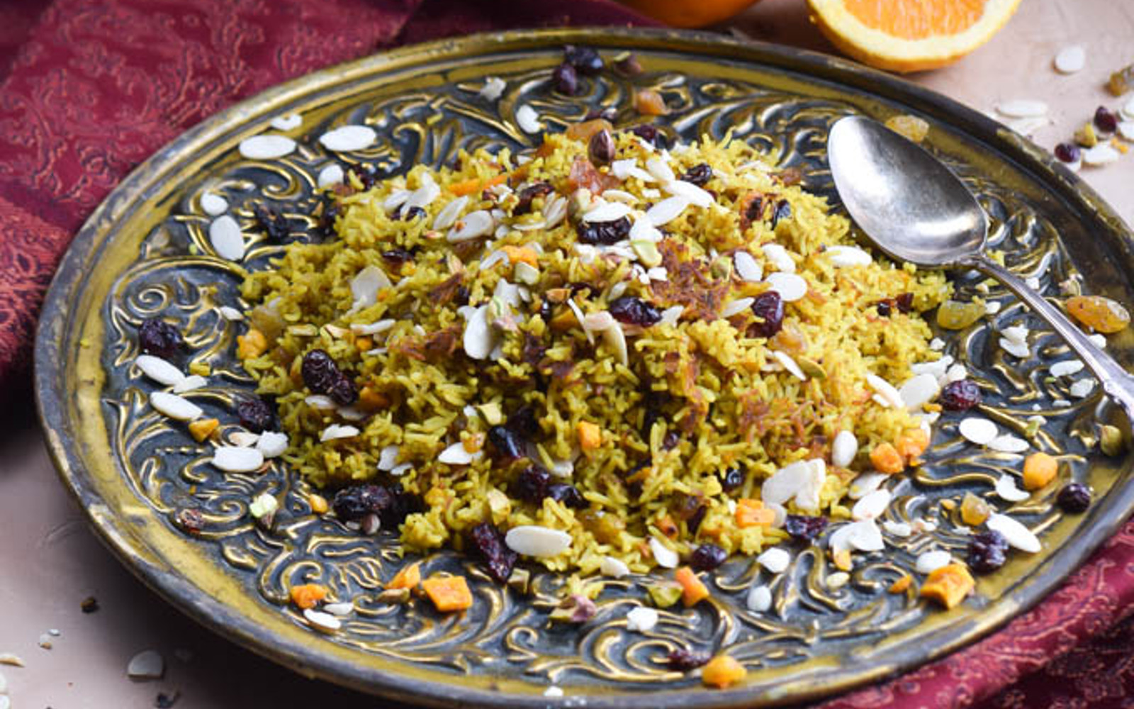 Iranian Jeweled Basmati Rice Pilaf b