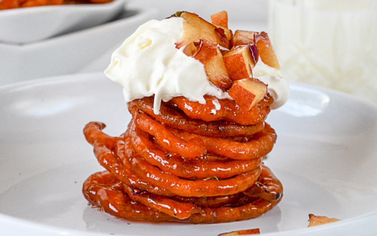 Peach Jalebi: Indian Funnel Cake