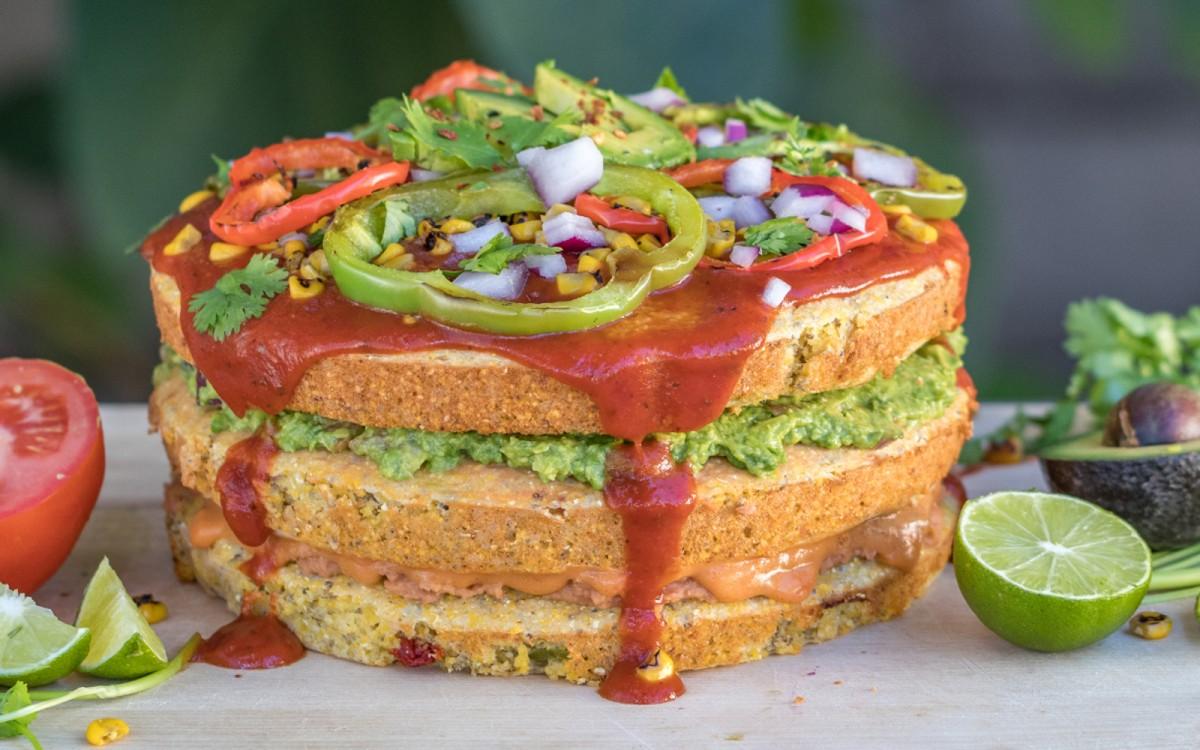 Mexican Cornbread Pizza Cake 4
