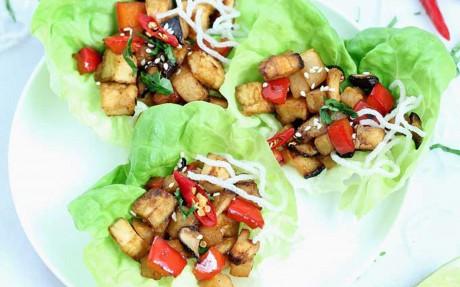 Mushroom and Jicama Lettuce Wraps 2