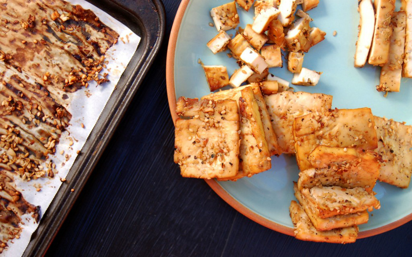 Oil-Free oven Baked Tofu