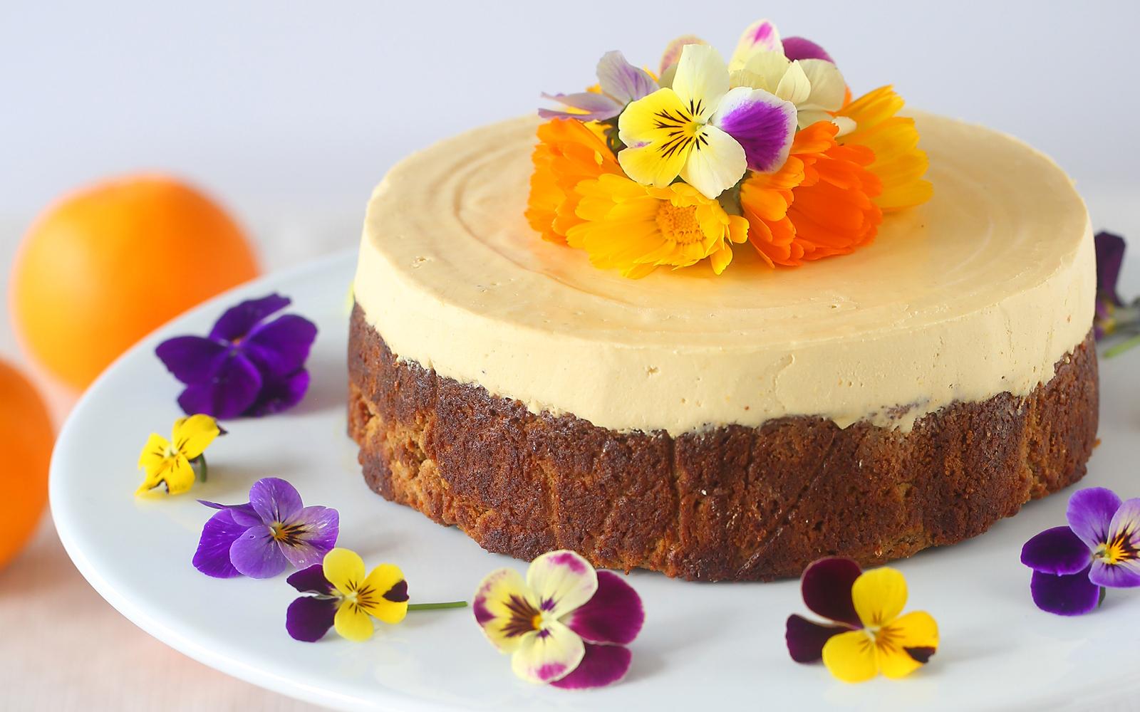 Orange Almond Cheesecake 2