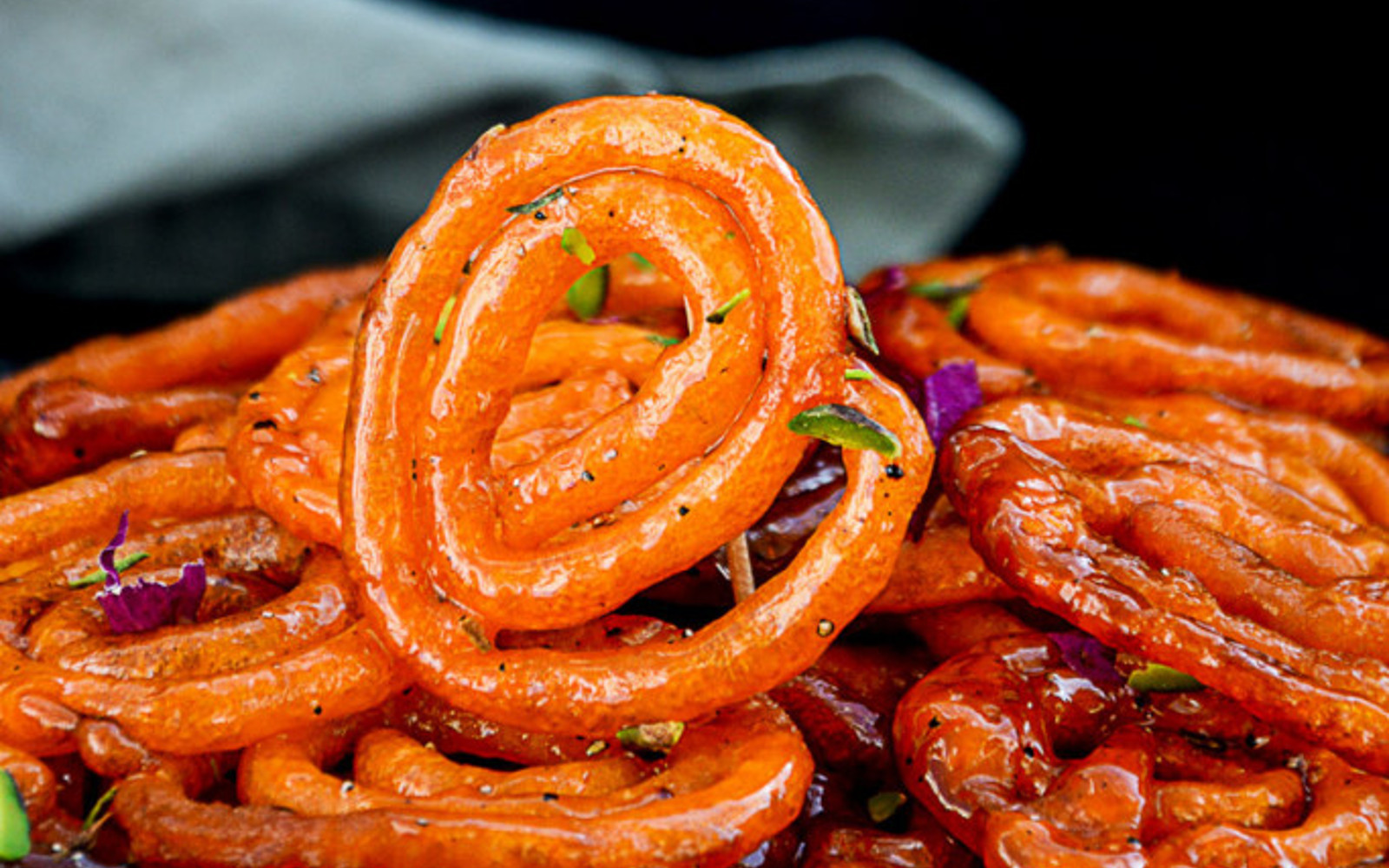 Peach Jalebi