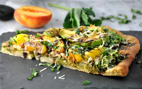 Peach Pesto Pizza
