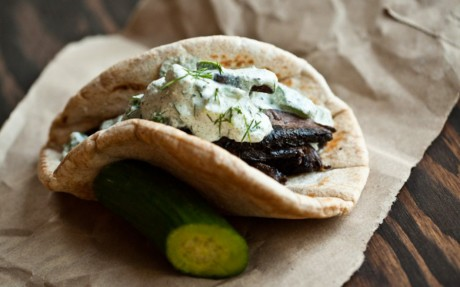 Portobello Gyros With Hemp Tzatziki 3
