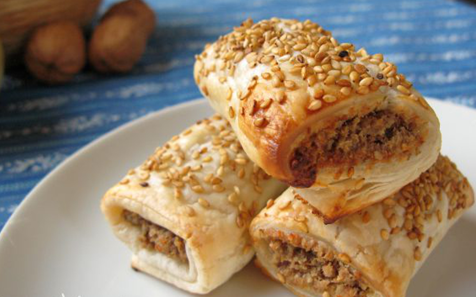 Puff Pastry Sausage Rolls With Almond Feta