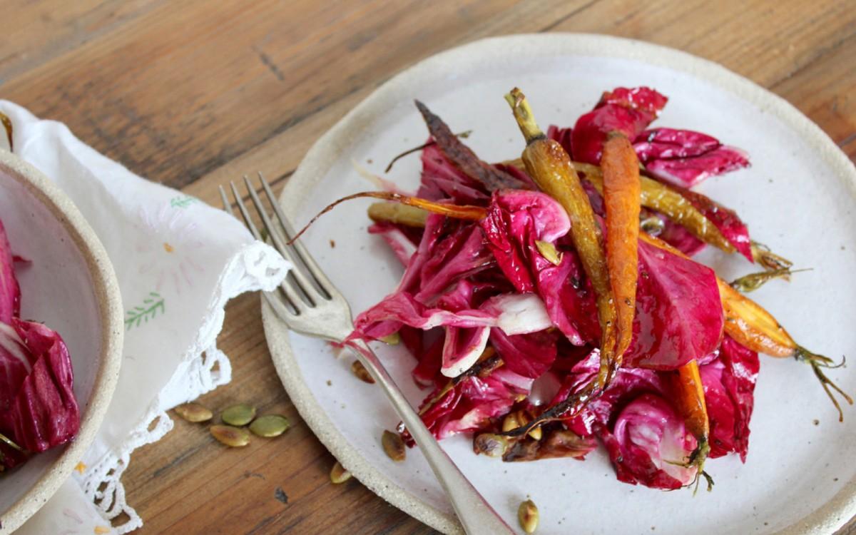 Radicchio Roasted Carrot Salad 1