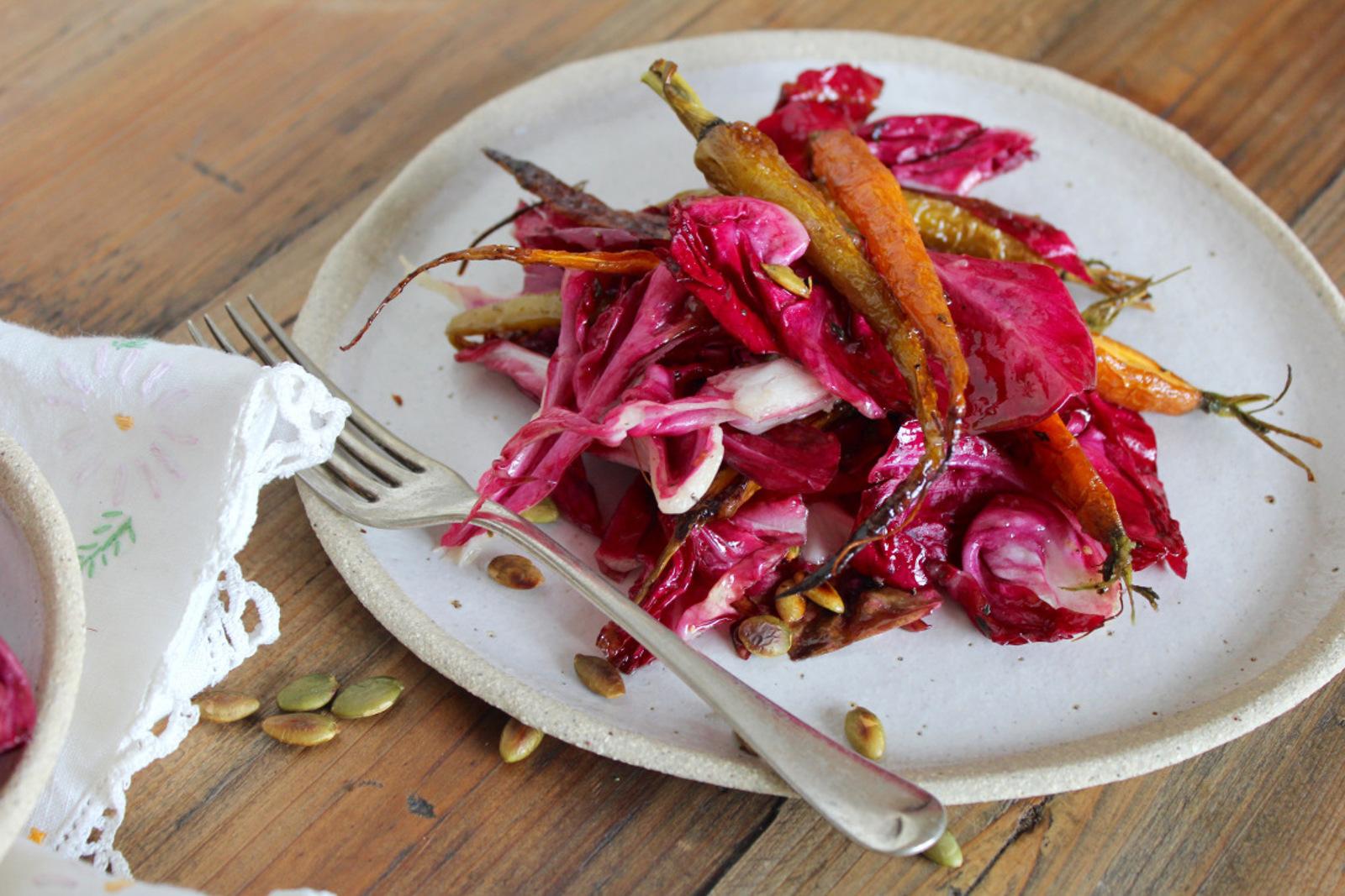 Radicchio Roasted Carrot Salad 4