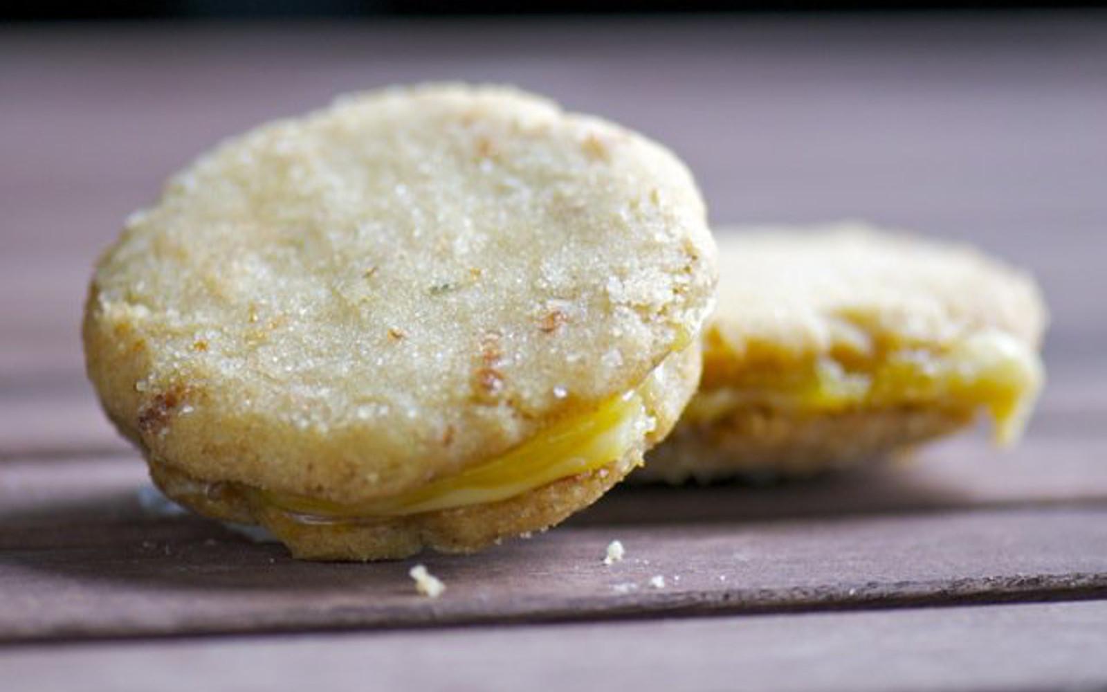 Vegan rosemary lemon sandwich cookies