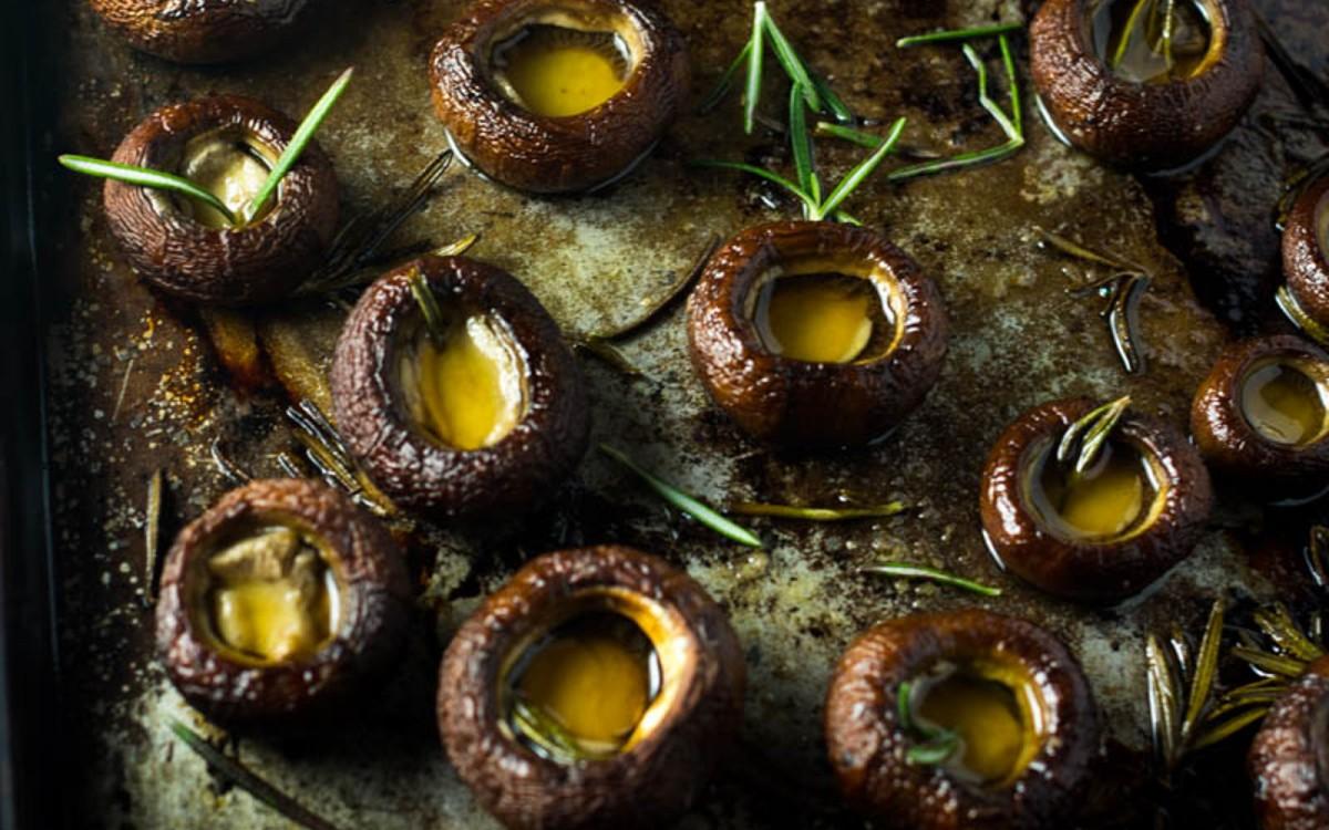 Rosemary Oven Roasted Mushrooms 1