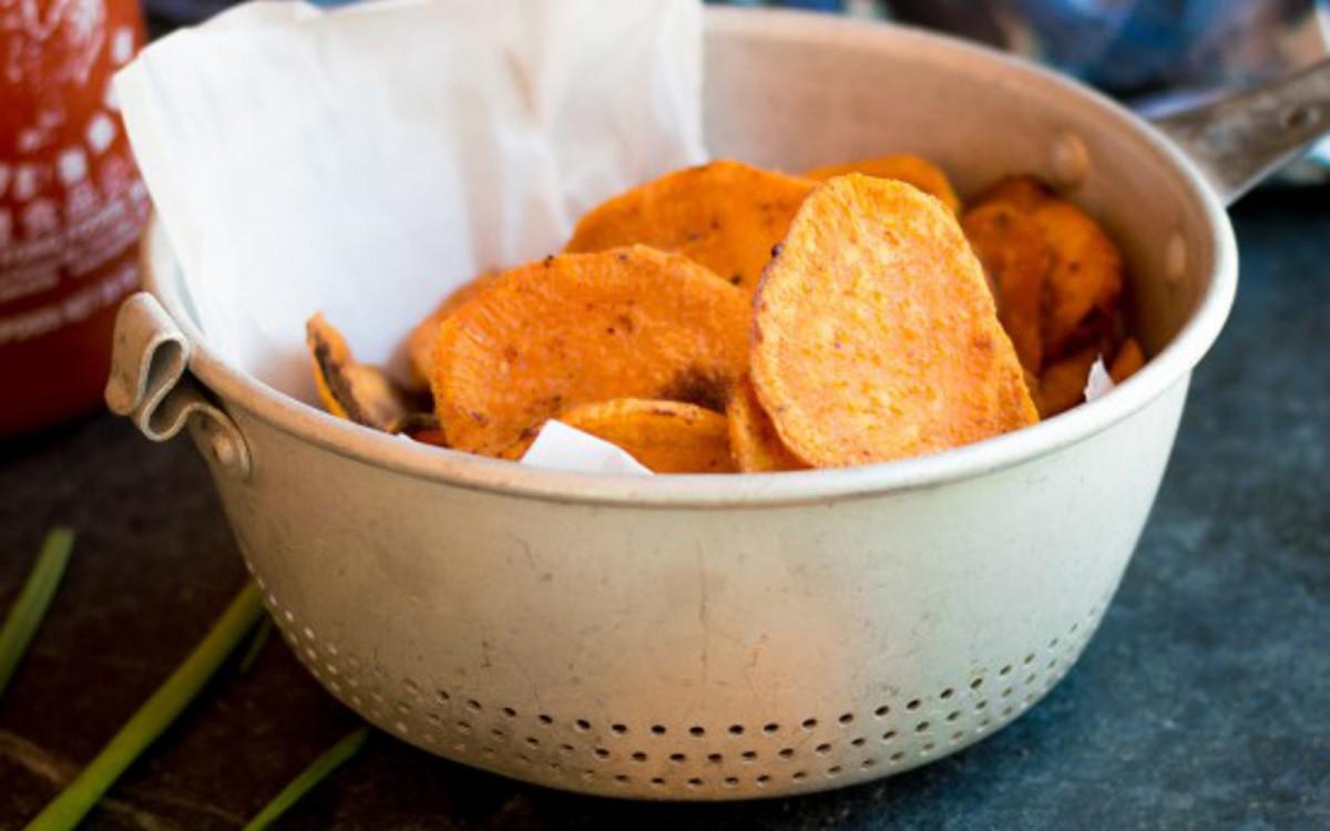 Vegan Sriracha Sweet Potato Chips