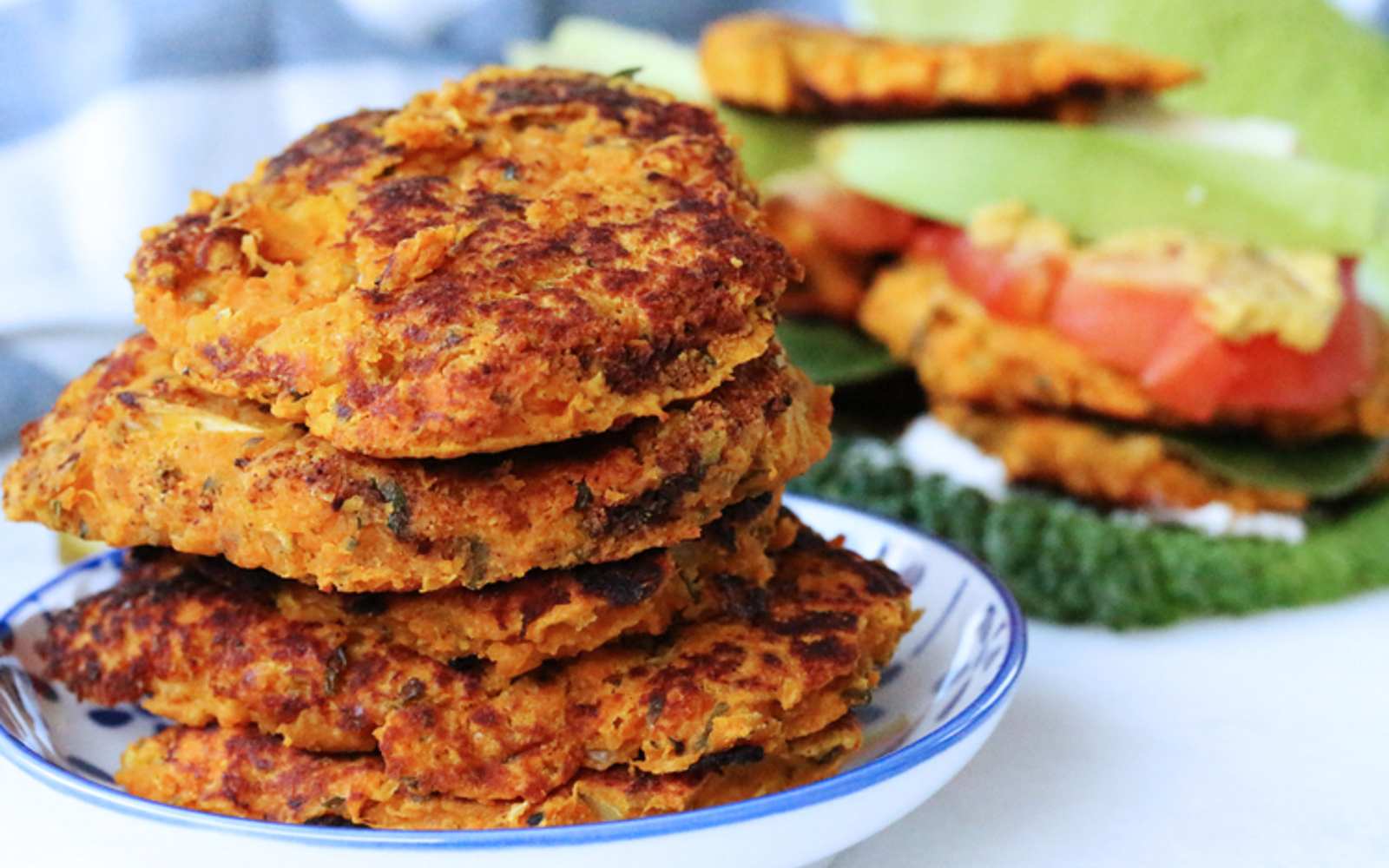 Sweet Potato Bean Burgers 1