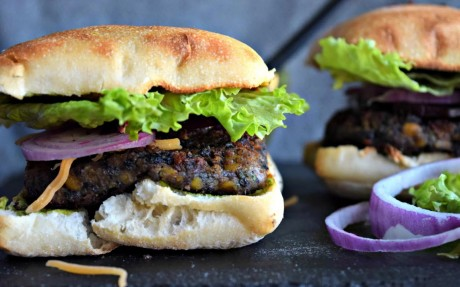 Black Rice Lentil Burger [Vegan]