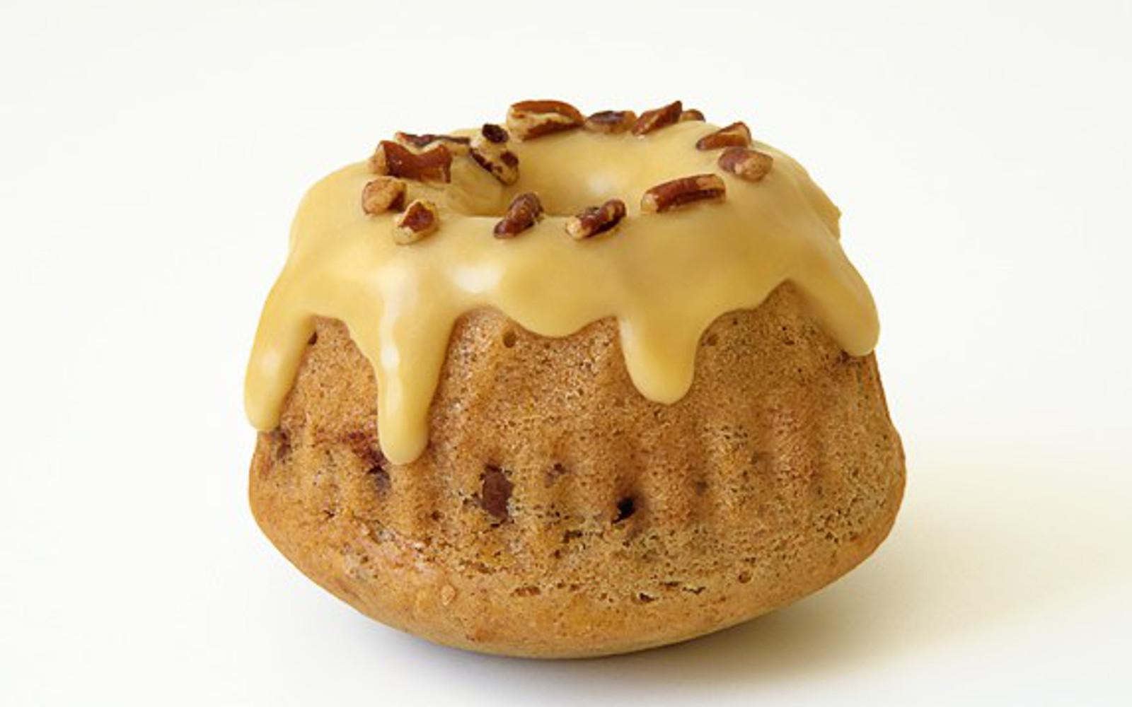 Maple Glazed Cinnamon Pecan Mini Cakes [Vegan]