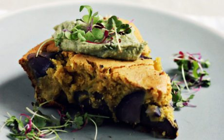 Chickpea Frittata With Purple Potatoes and Thai Basil 3