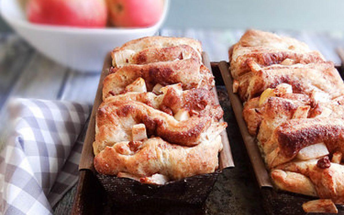 Cinnamon Apple Pecan Pull Apart Bread