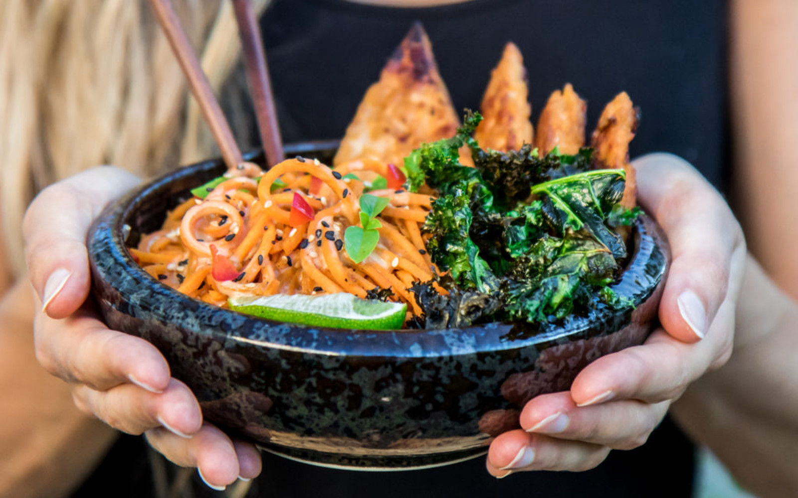 Creamy Sweet Potato Noodles With Ginger Tempeh 2