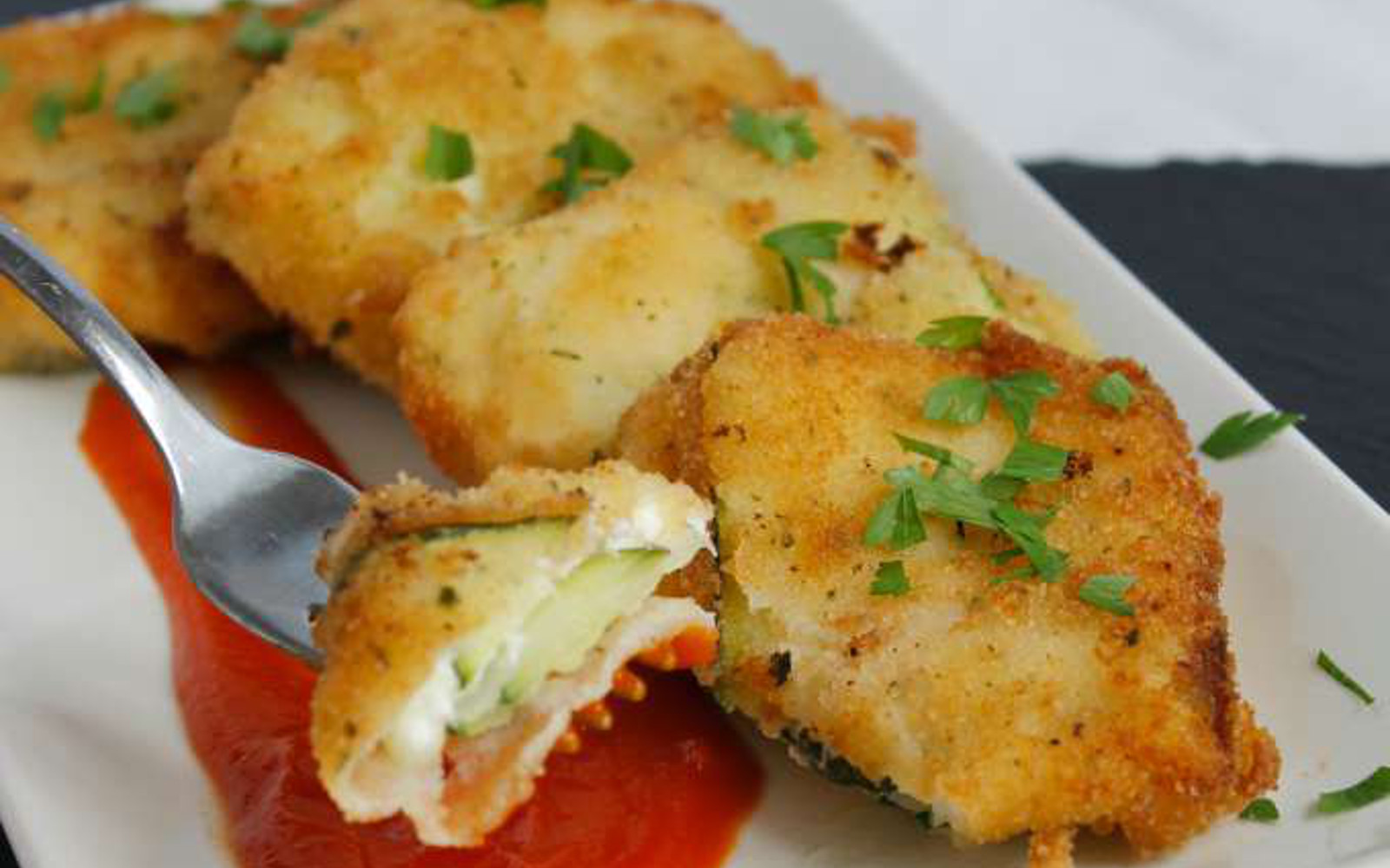 Fried Zucchini Ravioli 1