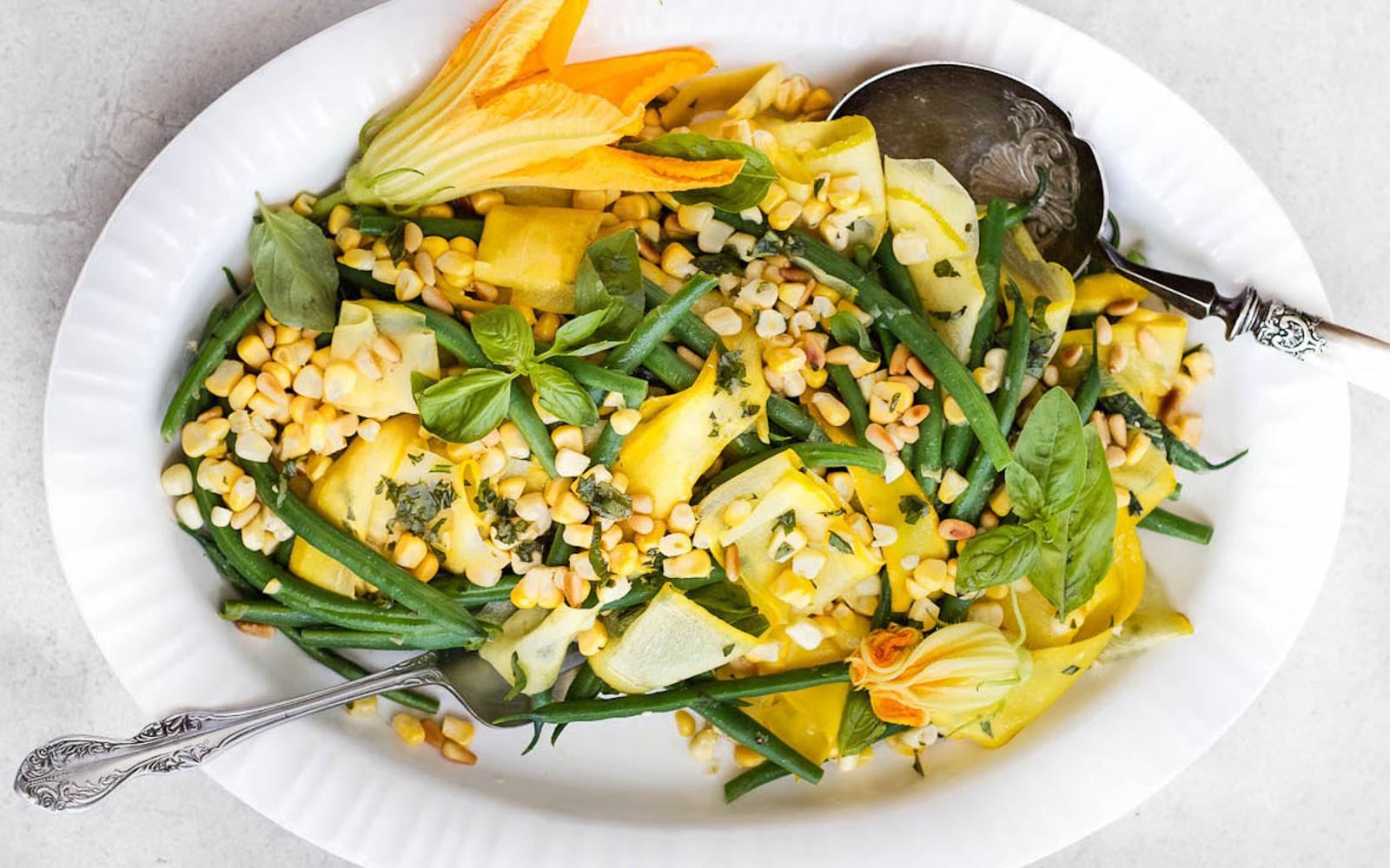 Green Bean Corn and Squash Salad