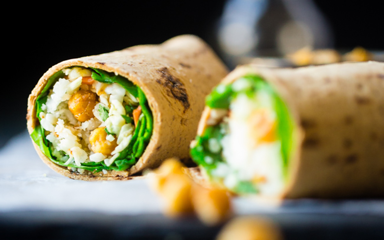 'Honey' Garlic Roasted Chickpea Wraps 1