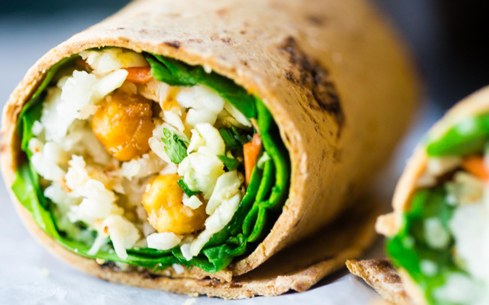 'Honey' Garlic Roasted Chickpea Wraps 2