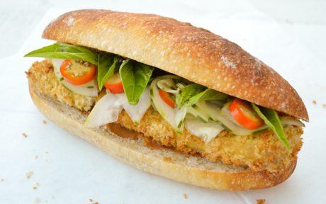 Katsu Banh Mi Crispy Tofu Cutlet Sandwich