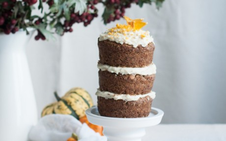 Mini Pumpkin Orange Layer Cake