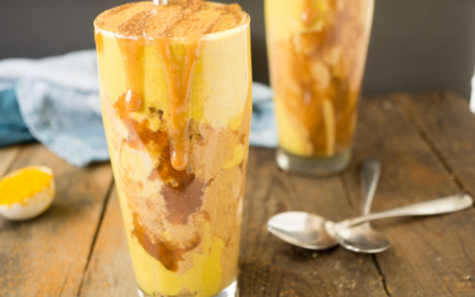 Peanut Butter Caramel Ribbon Golden Milkshake 7