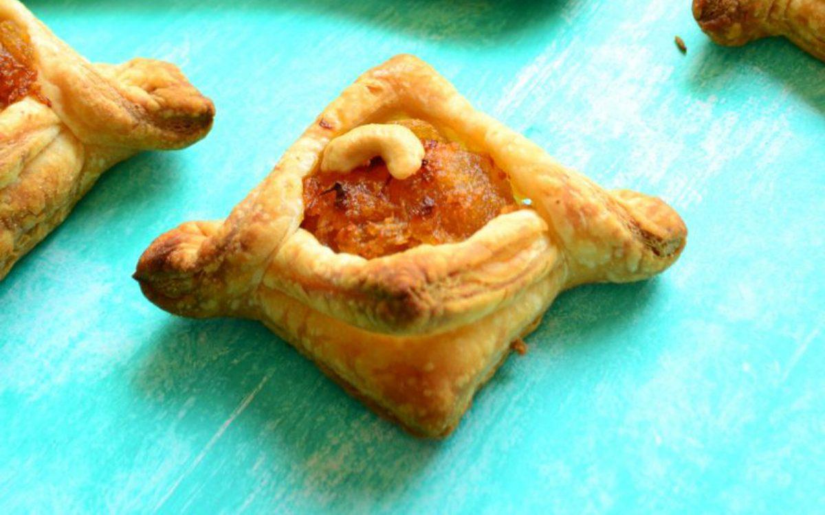 Vegan Pumpkin Halwa Puff Pastry Tarts