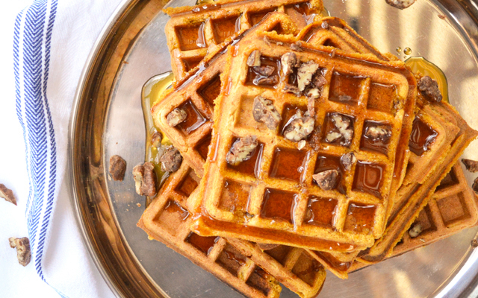 Pumpkin Waffles and Cider Maple Syrup 2