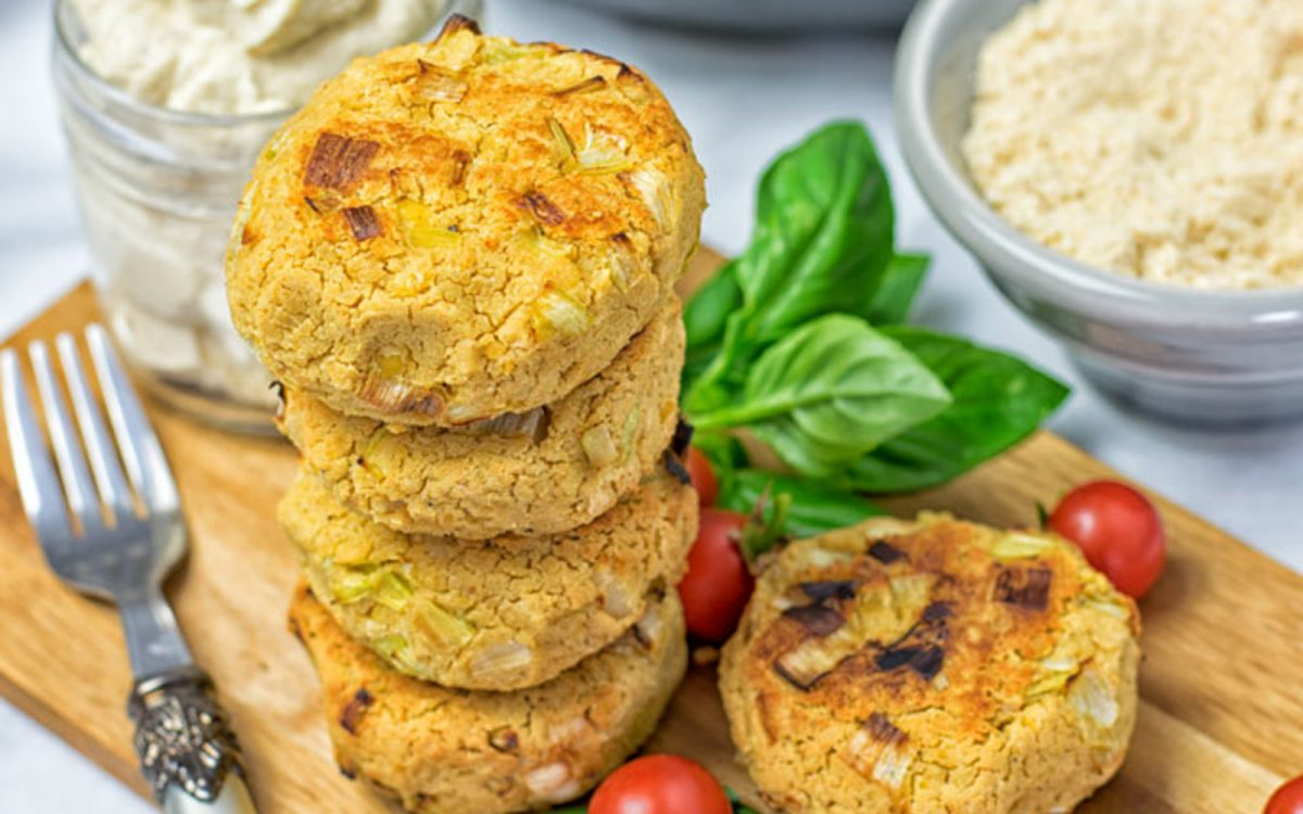 Vegan Roasted Garlic Cheese Fritters